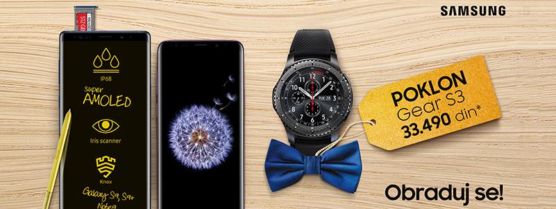 Samsung daruje Gear S3 smart watch