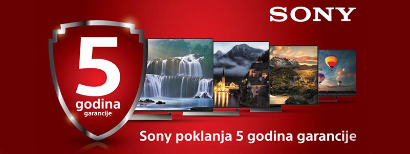 5 godina za Sony Bravia TV