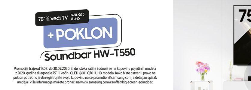 Uz Samsung TV – poklon Soundbar zvučnik