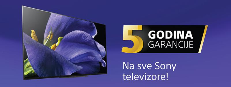 5 godina garancije za Sony TV