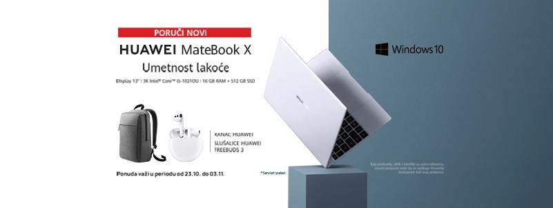 MateBook X i pokloni